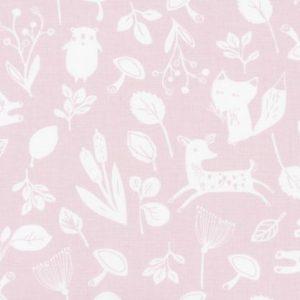 Leśne opowieści pudrowy róż